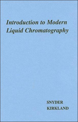 Introduction to modern liquid chromatography