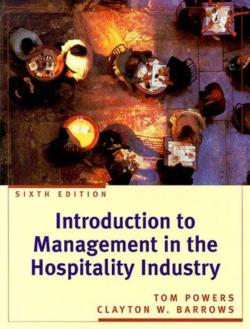Download Introduction to management in the hospitality industry