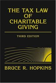 The Tax Law Of Charitable Giving PDF Download