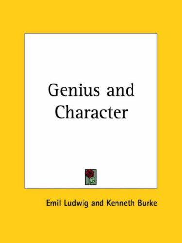 Genius and Character