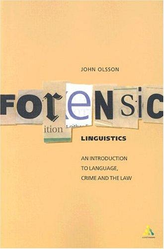 Image for Forensic Linguistics: An Introduction to Language, Crime and the Law