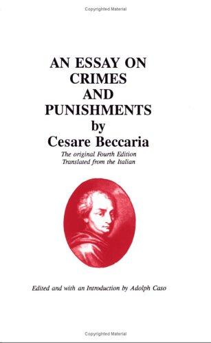 Download An essay on crimes and punishments