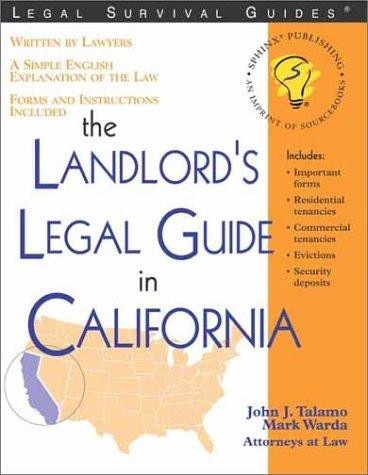 The landlord's legal guide in California