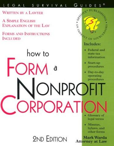 Download How to form a nonprofit corporation