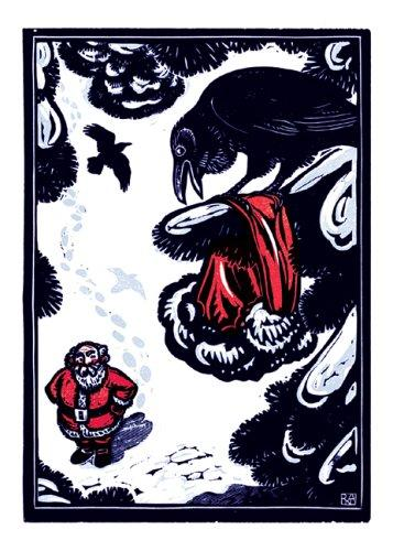 Raven's Christmas Notecards (Woodcut Christmas Cards) by Rick Allen