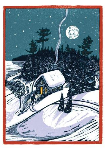 Winter Homecoming Notecards (Woodcut Christmas Cards) by Rick Allen
