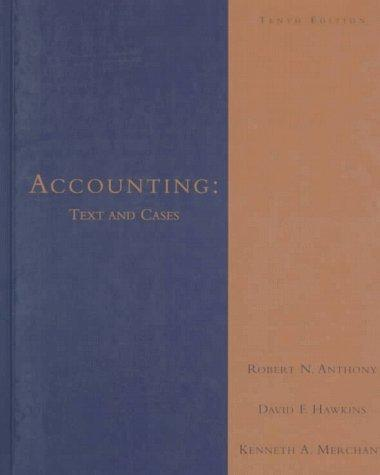 Accounting, text and cases
