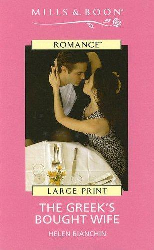 Download Harlequin Romance I – Large Print – The Greek's Bought Wife (Harlequin Romance I – Large Print)