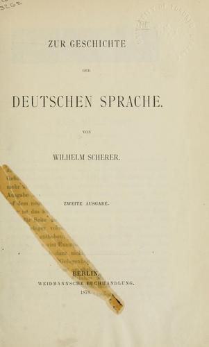 Zur Geschichte der deutschen Sprache.