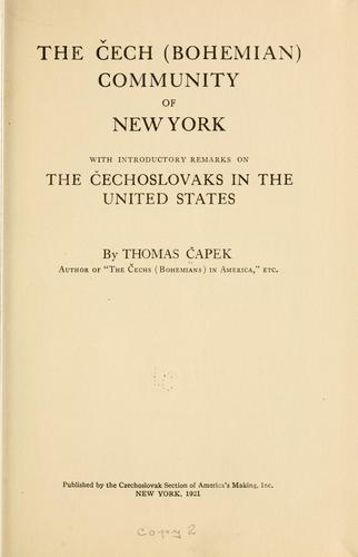 The Cech <Bohemian> community of New York