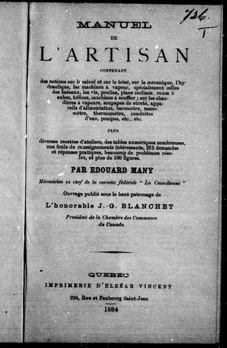 Download Manuel de l'artisan