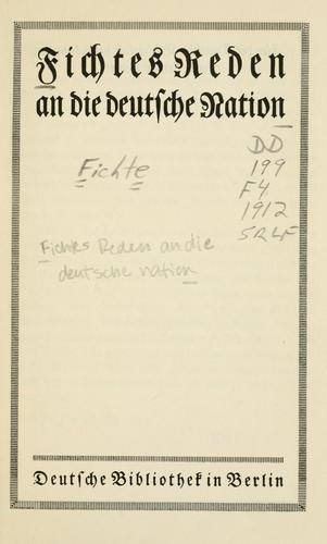 Download Fichtes Reden an die deutsche Nation