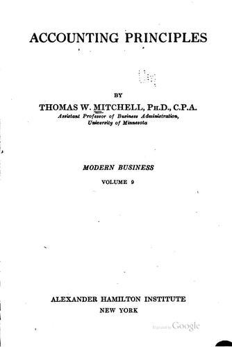 Download Accounting principles
