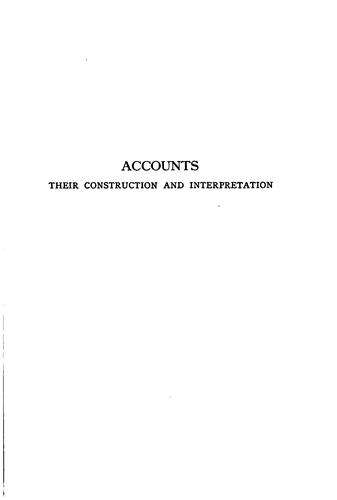 Accounts, their construction and interpretation