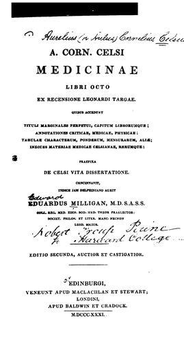 A. Corn. Celsi Medicinae libri octo