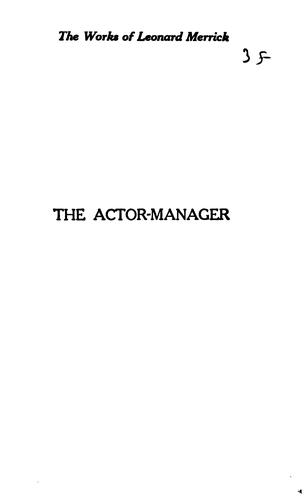Download The actor-manager