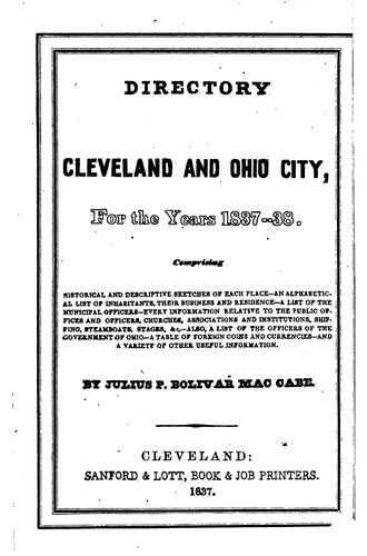 Download A directory of the cities of Cleveland & Ohio, for the years 1837- 38