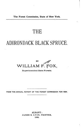 Download The Adirondack black spruce.
