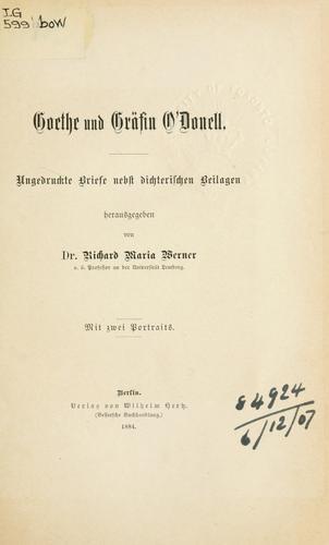 Goethe und Gräfin O'Donell.