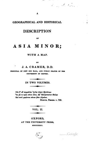 Download A geographical and historical description of Asia Minor.