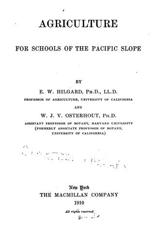 Download Agriculture for schools of the Pacific slope