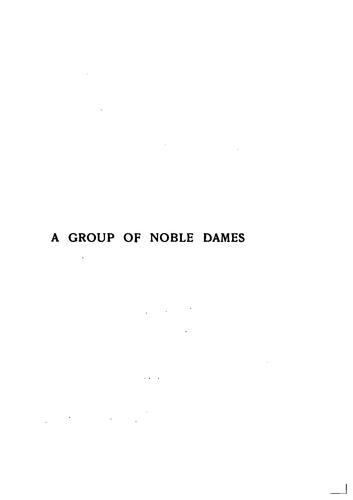 Download A group of noble dames