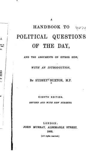 Download A handbook to political questions of the day