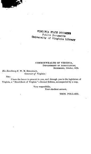 A hand-book of Virginia.