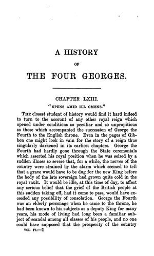 Download A history of the four Georges