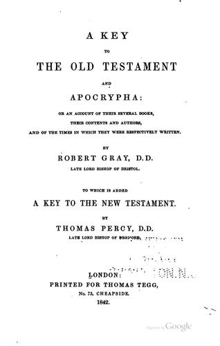 Download A  key to the Old Testament and Apocrypha