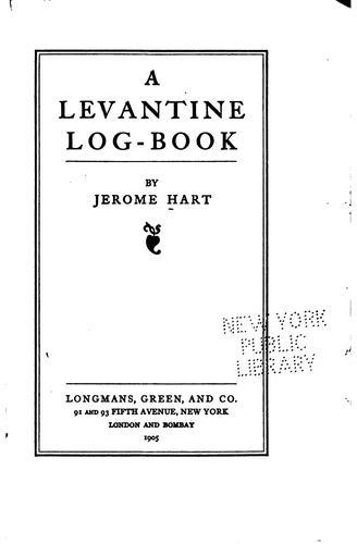A Levantine log-book