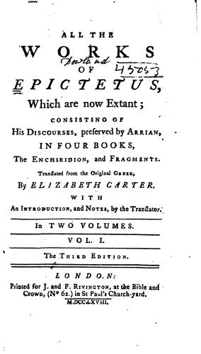 Download All the works of Epictetus, which are now extant