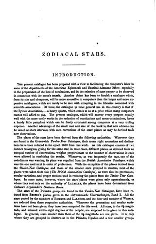 Download Almanac catalogue of zodiacal stars.