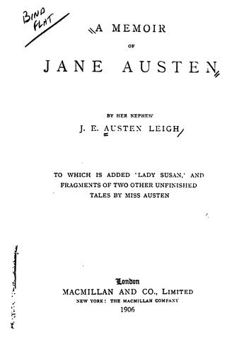 Download Memoir of Jane Austen