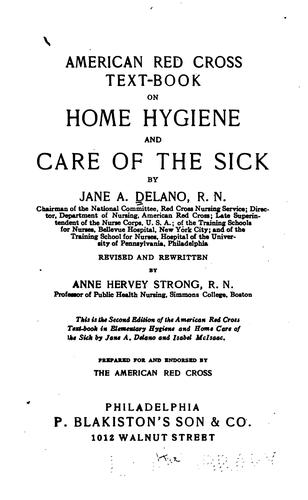 Download American Red Cross text-book on home hygiene and care of the sick