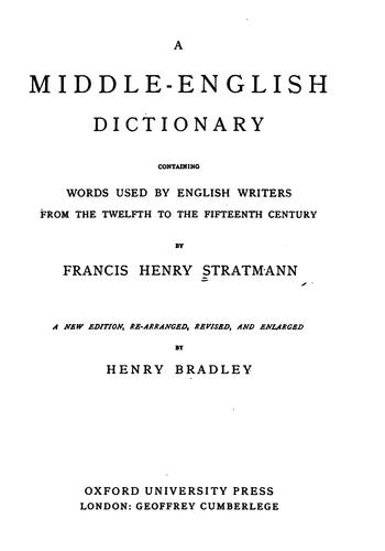 Download A Middle-English dictionary