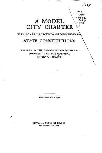 Model city charter.