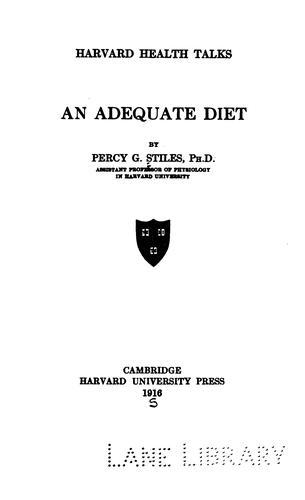 An adequate diet