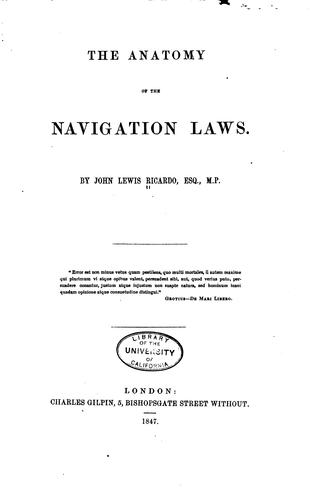 Download The anatomy of the Navigation laws.