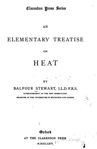 An elementary treatise on heat.