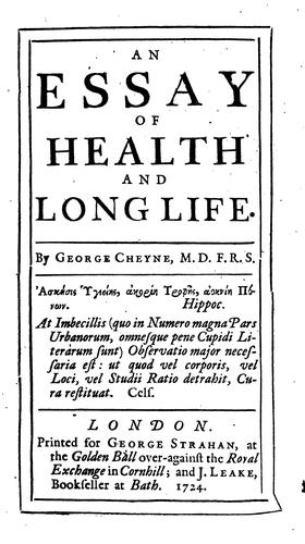 Download An essay of health and long life