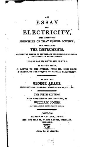 An essay on electricity