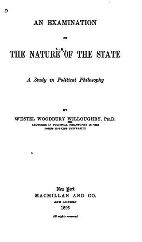 An examination of the nature of the state.