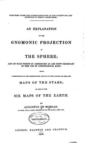 Download An explanation of the gnomonic projection of the sphere