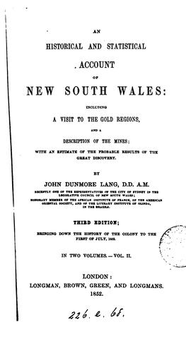 Download An historical and statistical account of New South Wales