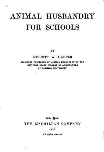 Download Animal husbandry for schools