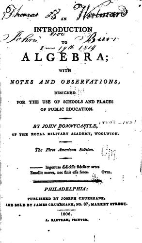 Download An introduction to algebra