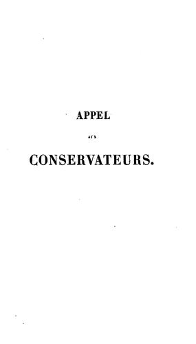 Download Appel aux conservateurs