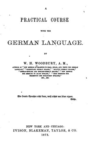 A practical course with the German language.