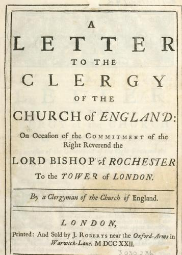 Download A letter to the clergy of the Church of England